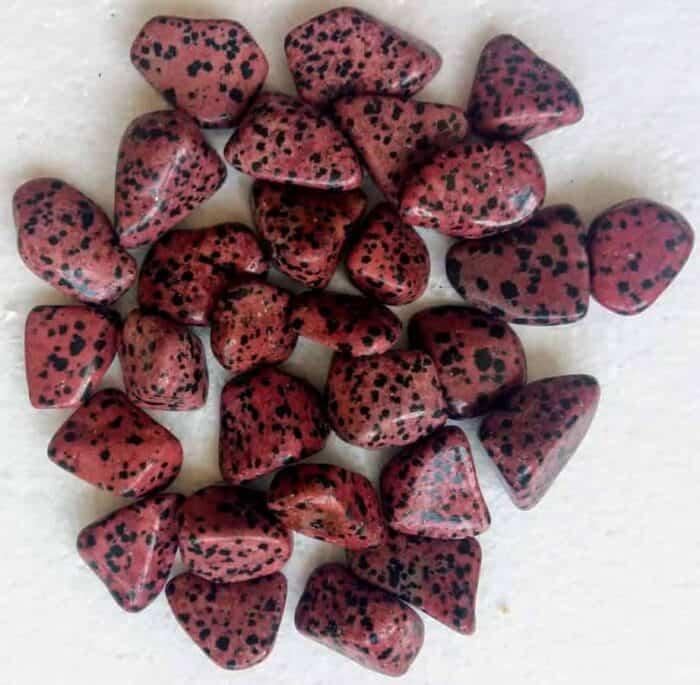 Rød dalmantiner jaspis