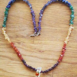 chakra halskæde 60 cm, giver energi til alle dine chakra