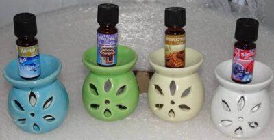 Aromaterapilampe vælg farve - Med en jule olie