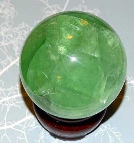 grøn flourit kugle xl