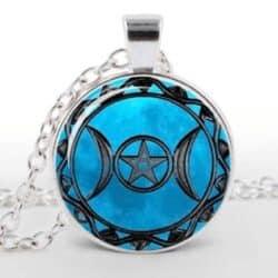 Blå gudinde pentagram