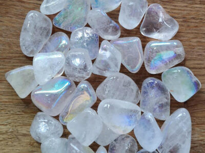 Engle Aura Kvarts 2-3 cm Stenen til sensitive mennesker.
