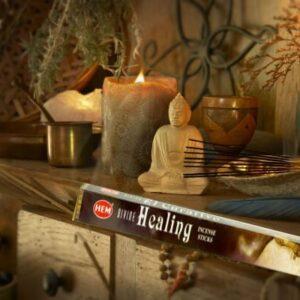 Guddommelig healing røgelsespinde 8 stk