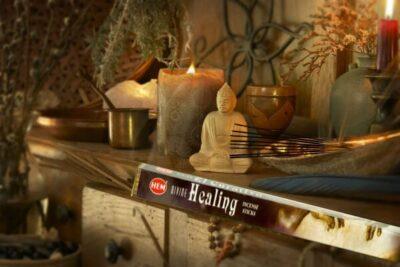 Guddommelige Healing – Røgelses pinde fra HEM 8 stk. pakke