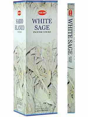 Hvid Salvie røgelsespinde fra HEM 8 stk. pakke