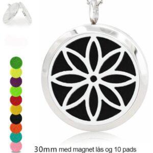 Lotusblomst aroma terapi vedhæng med 10 filtpuder