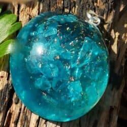 Super kraftige blå Topas orgon vedhæng