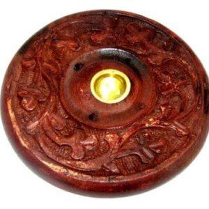 træ_røgelsesholder brun