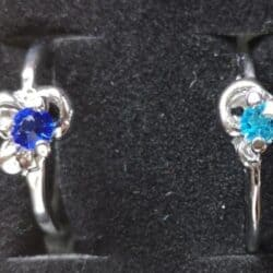Sølvbelagt ring med rhinsten vælg selv farve str. 54