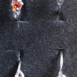 Sølvbelagt ring med rhinsten vælg selv farve str. 50