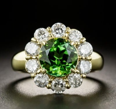 Guldbelagt ring med Smaragd