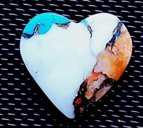 Køb spondylus skal med kobber og turquois hjerteformet