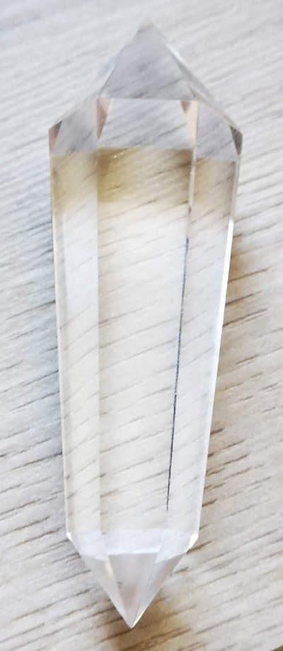 Vogel dobbelt termineret bjergkrystal 6 sidet