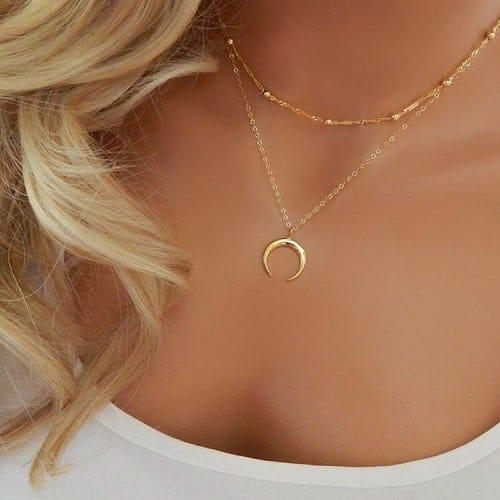Guldbelagt månesymbol