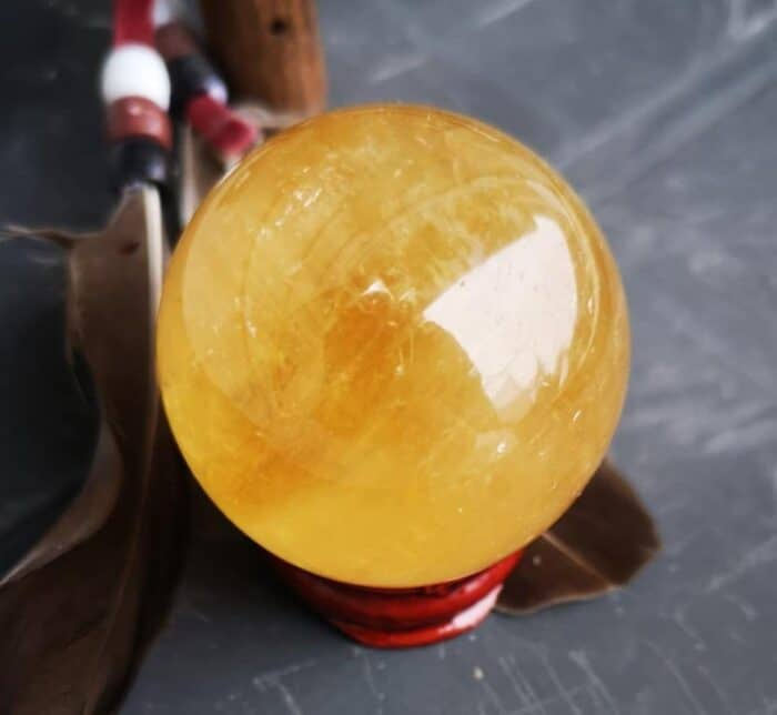 Honning Calsit kugle