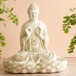 Japansk Budha figur 32 cm høj bronche farver 700 kr