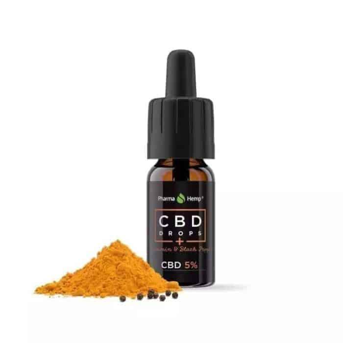 cbd olie med curcumin og sort peber