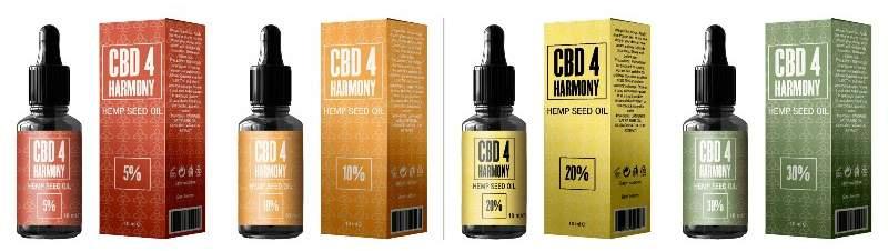 CBD 4 Harmony olie alkohol udvundet